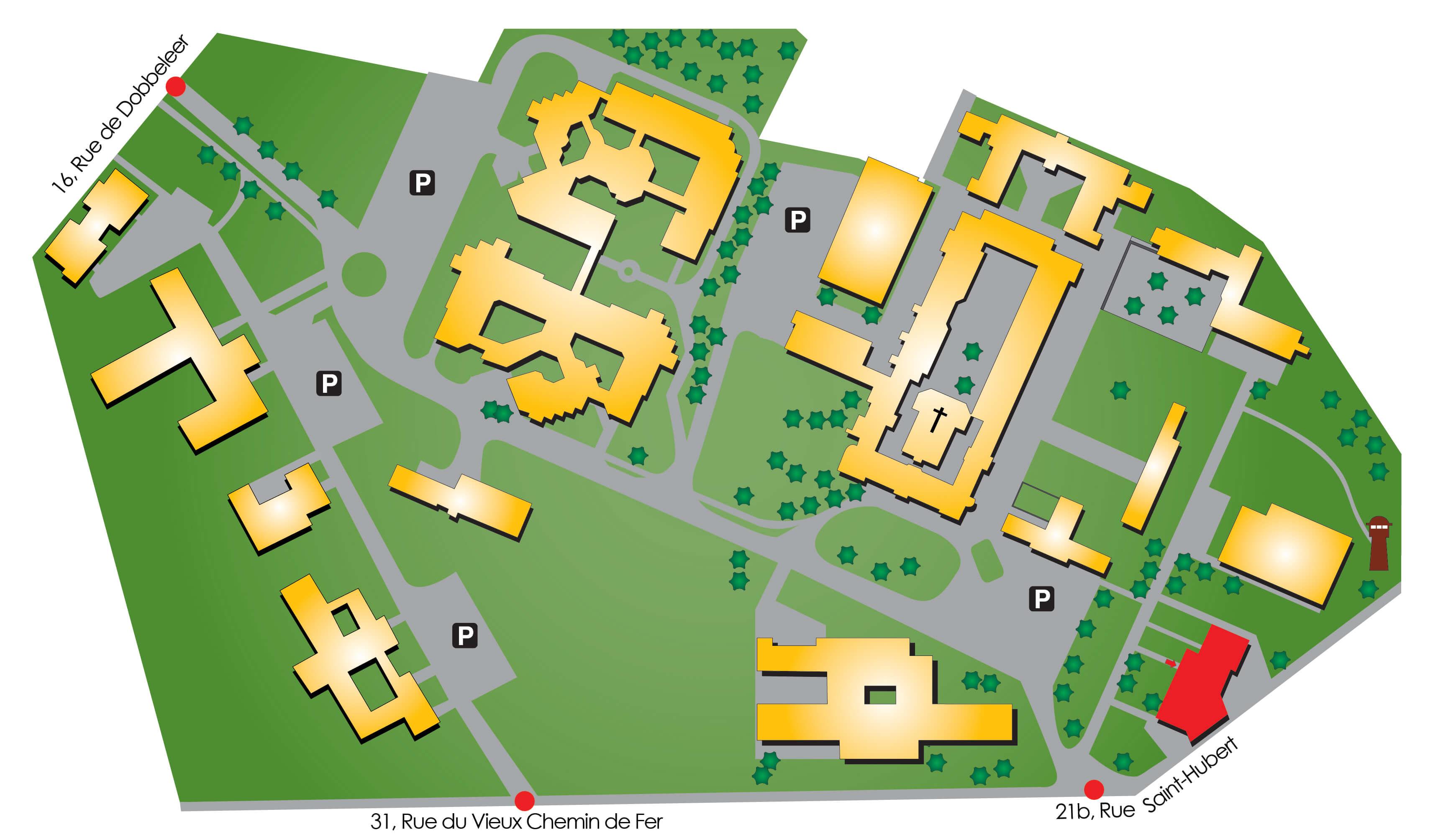 Plan d'accès de l'Hôpital de Jour