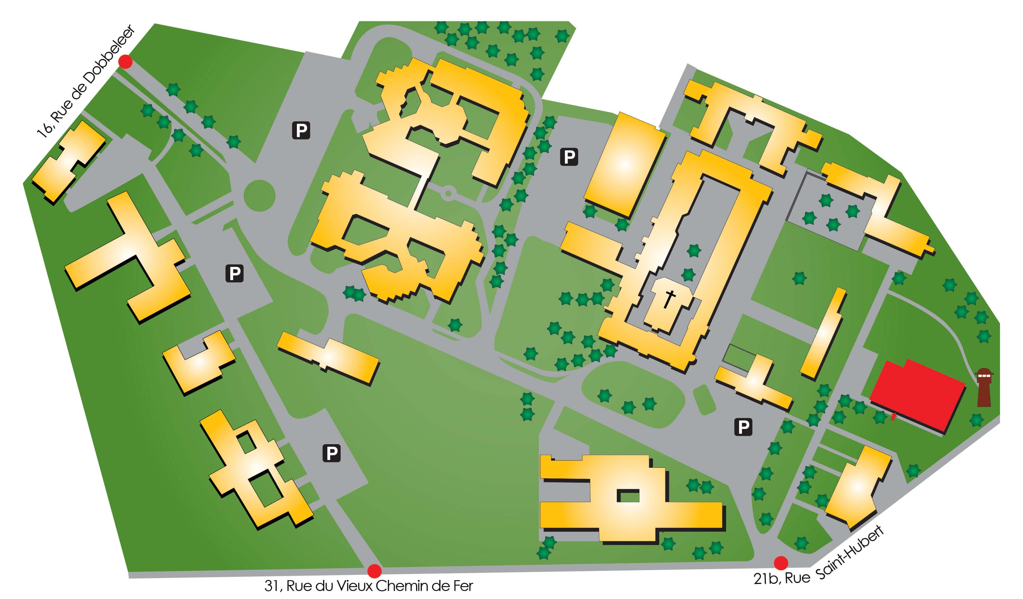 Plan d'accès hall des sports