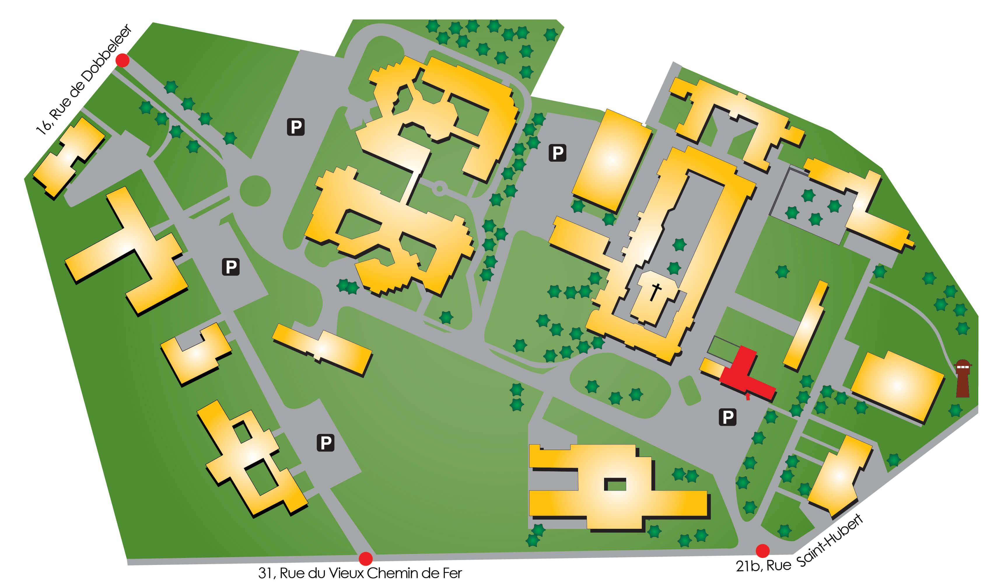 Plan d'accès à l'Intervalle