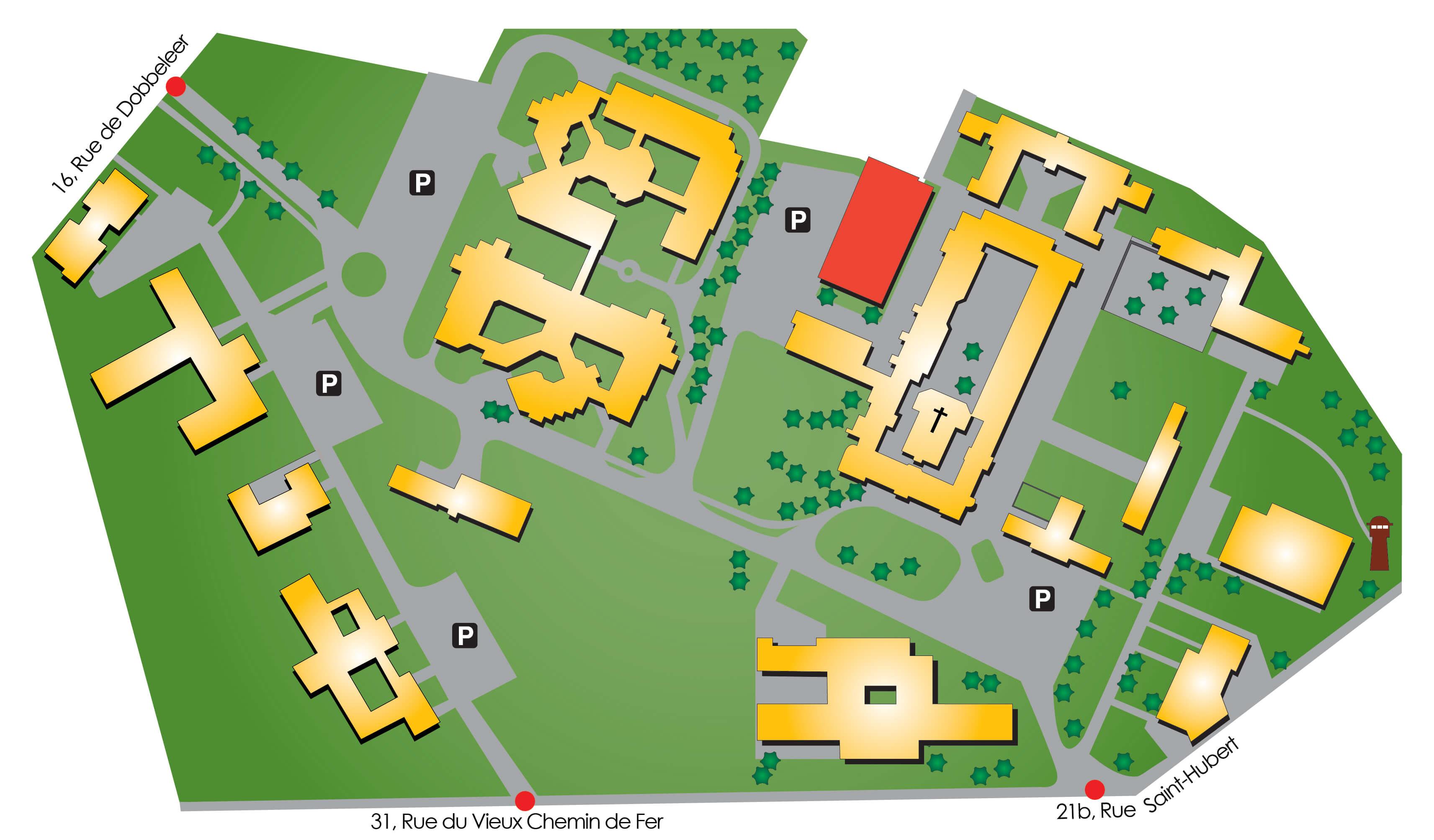 Plan d'accès de la Salle du Conseil