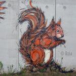 Fresque d'un écureuil