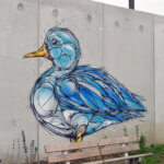 Fresque d'un canard