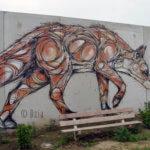 Fresque d'un renard