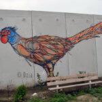 Fresque d'une poule
